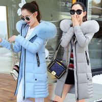 2019 Women Winter Jackets Down Cotton Hooded Coat Plus Size Parkas Mujer Coats Long Coat Fashion Female Fur collar Coats 85
