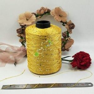 Image 2 - 500 g/grup madeni pul İplik pul yün iğne doğal boncuk dantel kravat bir düğüm iplik el örgü tığ iplik hattı t64