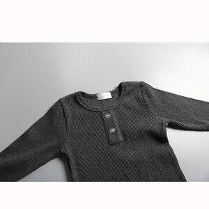 Image 5 - HITOMAGIC 2019 הגעה חדשה בני בנות בגדים לילדים מצולעים סט מצויד עם מלא שרוול ילדים רך סתיו חורף בד