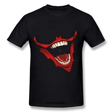 Men T shirt The Joker Smile Mouth Bloody Short Sleeve funny t-shirt novelty tshirt women(China)
