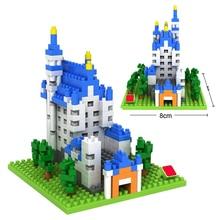 LegoINGlys creators city Street view Germany New Swan Stone Castle mini micro diamond building blocks model bricks toys for gift