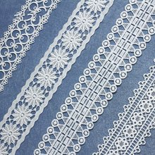 Milk silk water soluble embroidery lace exquisite white openwork lace fabric handmade accessories local focal black fashion exquisite handmade lace handbag