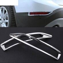 2шт задний хвост свет лампы рамка отделка стикер для BMW Х1 F48 20и 25i 25le 2016-2019 АБС польский хром аксессуары автомобиль-стайлинг