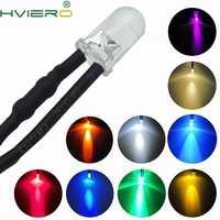 1Pcs F5 5mm Runde 20cm Pre Wired DC 12V LED Lampe Glühbirne Weiß Rot Blau grün Gelb Weiß Warmweiß Diode Emittierende Dioden