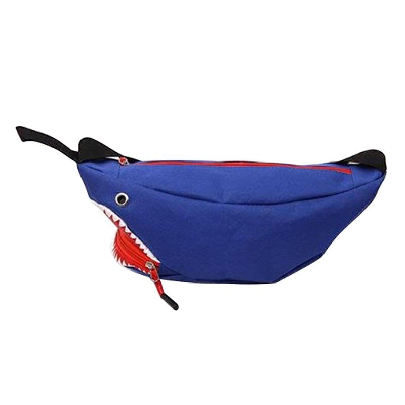 30PCS / LOT Cartoon Shark Waist Bag Travel Leisure Fanny Pack Men And Women Walking Waist Pack