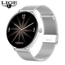 Смарт часы lige для мужчин и женщин Водонепроницаемый Фитнес