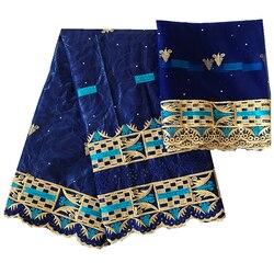 Tissu broderie dubaj tkanina koronki ślubne afrykańska tkanina bazinowa riche getzner z kamieniami nigeria ankara austria tekstylia 5 + 2 jardów/dużo