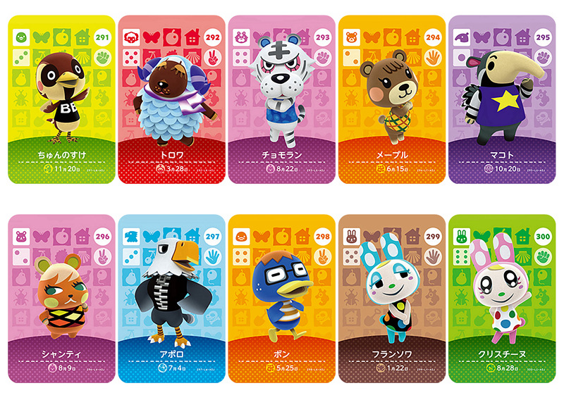 New English Version Amiibo Card NS Game Series 4 (281 To 320) Animal Crossing Card Work For