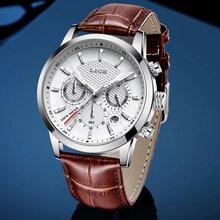 Часы наручные lige мужские с хронографом роскошные брендовые
