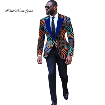 Fashion Men African Style Print Suit Jackets Festive Blazers Customized Mans Africa Mens Clothes Wyn878