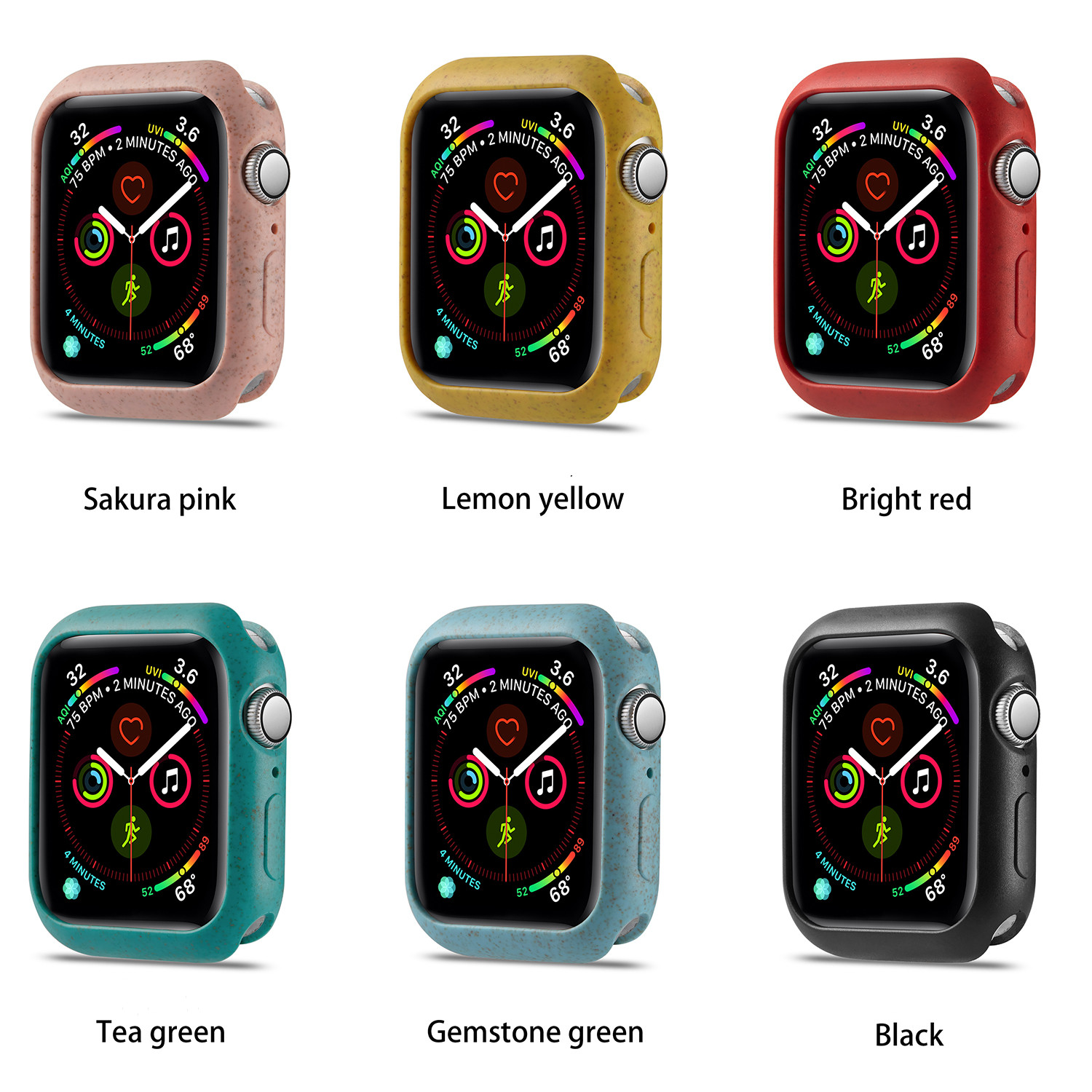 Protector Case For Apple Watch 4 5 3/2/1 40mm 44mm Macaroon Bumper Protector For IWatch Series 4 5 3 2 42mm 38mm