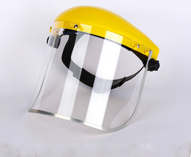 Anti-Saliva Dustproof MaskTransparent PVC Safety Faces Shields Screen Spare Visors Head Face Respiratory tract Protection 4