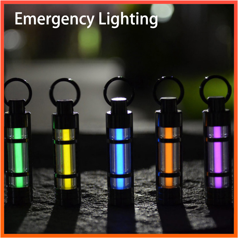 Automatic Light Itanium Alloy Tritium Gas Lamp Keychain Life-saving Emergency Lighting For Outdoor Safety