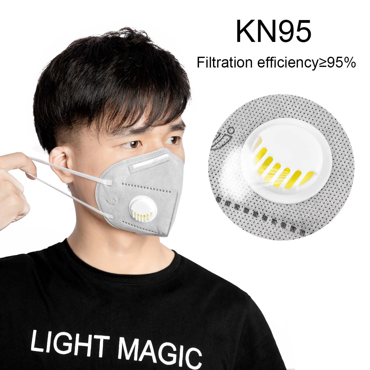 5/10Pcs Spot KN95 Folding Valved Dust Mask+ PM2.5 Industrial Dustproof Anti Virus Bacteria Mask Protection