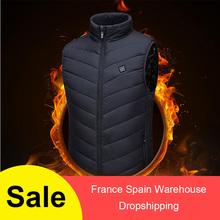 Kamizelka grzewcza zmywalny Usb ładowanie ogrzewanie ciepła podkoszulka kontrola temperatury odkryty Camping piesze wycieczki Golf (bez baterii) tanie tanio Pasuje prawda na wymiar weź swój normalny rozmiar Heating vest Coolmax Poliester Termiczne