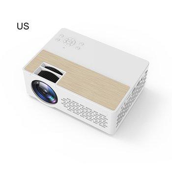 Projector Mini Portable Projector True Stereo Super Sense Sound Quality Projector HD 1080P Home LED Projectors White