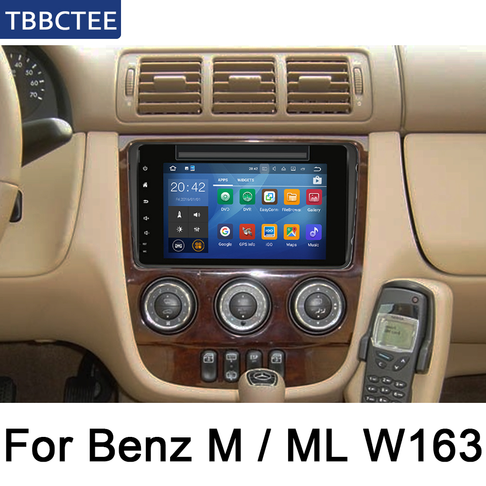 For Mercedes Benz M / ML W163 1998~2002 NTG Car DVD Player IPS LCD Screen GPS Navigation Android System Radio Audio Video Stereo