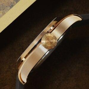 Image 2 - San Martin DIVER ดีบุก Retro Bronze ผู้ชายอัตโนมัตินาฬิกา Fluoro Rubber Sapphire ดูผ่านกรณีกลับส่องสว่าง