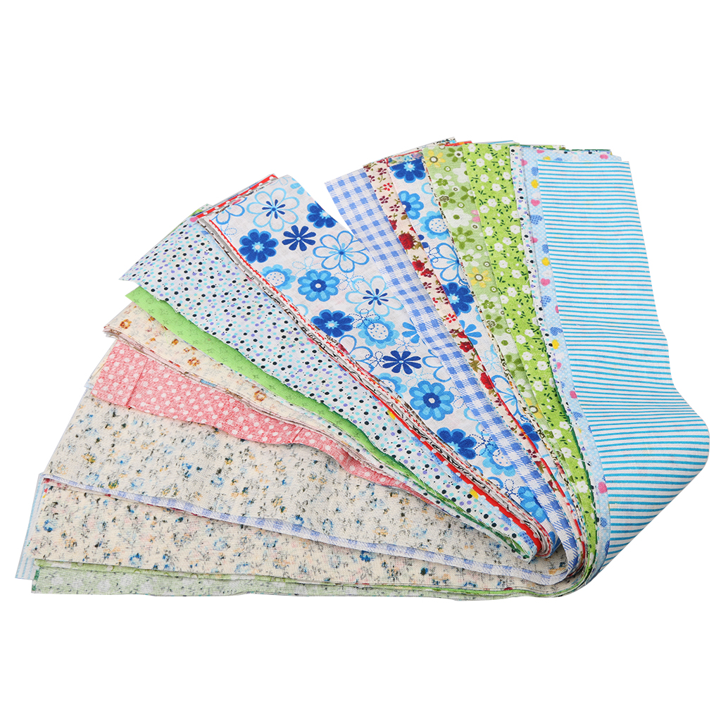 50 Pieces of Cotton Fabric for Making Cushions DIY Accessories 50x5cm