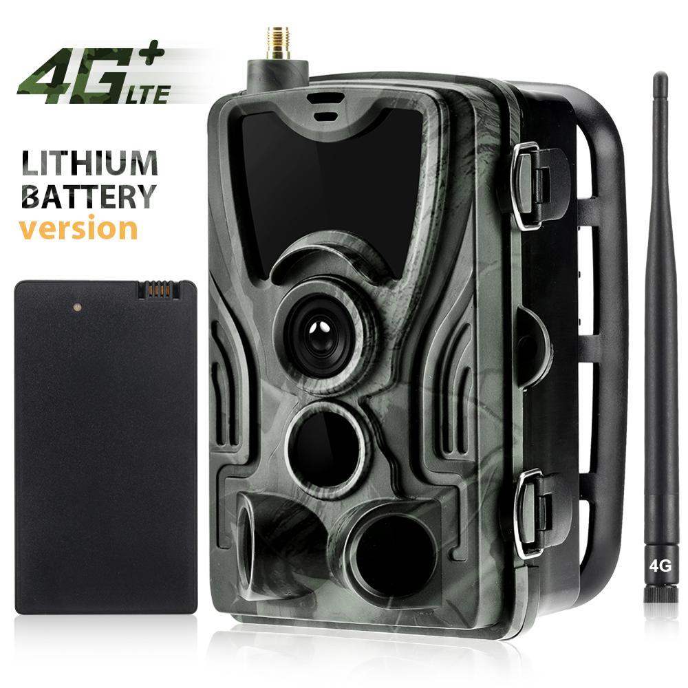 HC-801LTE 4G Trail Камера с 5000 мА литиевая батарея MMS SMS SMTP Охота Камера IP65 фото ловушки 940nm IR светодиодный дикий Камера