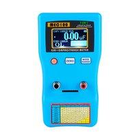 MEC 100 display digital capacitor medidor de alta precisão autoranging eletrolítico capacitância resistência medidor esr tester|Medidores de capacitância| |  -