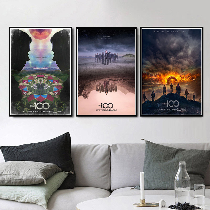 Canvas Poster Prints Hot The 100 New Season TV Series Show Movie Modern Oil Painting Art Wall Pictures Living Room Home Decor