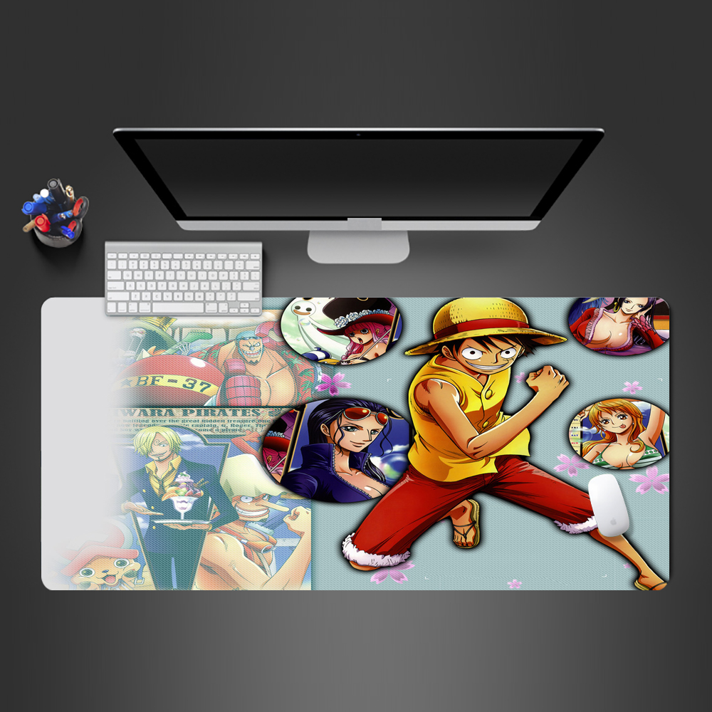 <font><b>Anime</b></font> Corsair <font><b>Mousepad</b></font> High Quality Rubber <font><b>XL</b></font> Mouse Pad Locking Edge Large Mouse Mat PC Computer Laptop keyboard Pad Gifts image