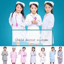 Docteur ensemble pour enfants garçons filles médecin infirmière uniformes Costumes tenue de fête docteur robe enfants uniforme croix manteau jouer enfant