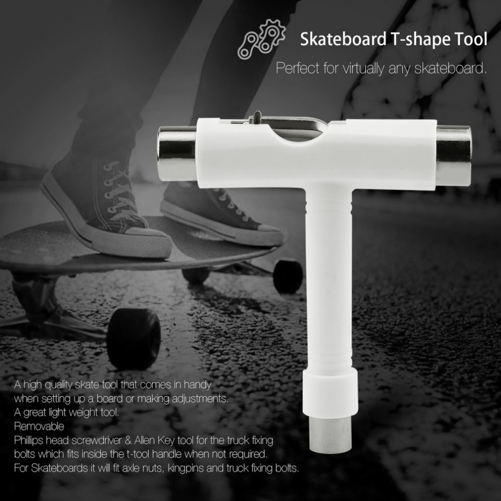 OUTAD Skateboard Tool Scooter Hoverboard Longboard T Shape Multifunctional Wrench Adjusting Tool