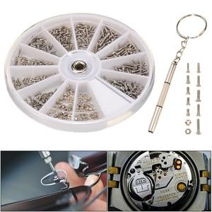 Набор для ремонта винтов, 600 шт., набор инструментов, часы, очки, ремонтные аксессуары, отвертка для часовщика, ремонтные детали, инструмент