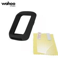 Genérico silicone pele protetora caso & protetor de tela para wahoo elemnt parafuso gps bicicleta computador caso para wahoo elemnt parafuso