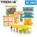 TEENRA 1Pcs Silikon Lebensmittel Lagerung Tasche EVA Reusable Silikon Tasche Zip-Lock Einfrieren Taschen Dicht Lebensmittel Frisch Container
