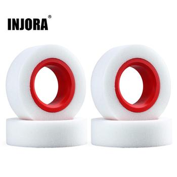 """INJORA Dual Stage TPE Foam 114-120mm 100-110mm Fit 1.9"""" Wheel Tires for RC Crawler Axial SCX10 90046 Traxxas TRX4"""