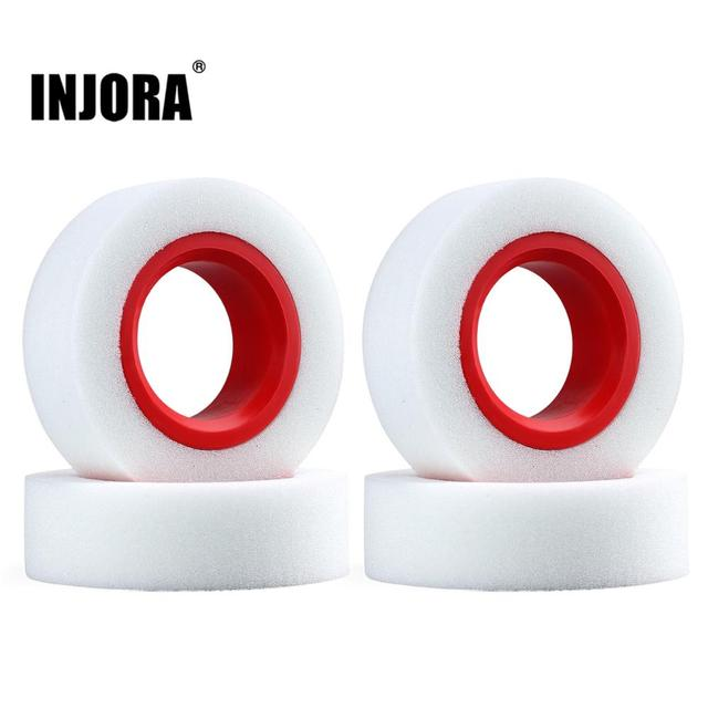 """INJORA Dual Stage TPE Foam 114-120mm 100-110mm Fit 1.9"""" Wheel Tires for RC Crawler Axial SCX10 90046 Traxxas TRX4 1"""