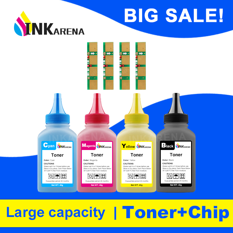 INKARENA 4 Color Refill kit Toner Powder for Samsung CLT-406 CLT 406 Cartridge For XPRESS SL C460 C460FW C410 C410W C460W