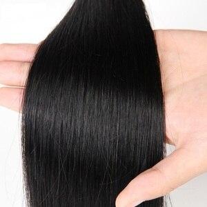 Image 4 - ストレート人間の髪のバンドル 100 グラム/ピースブラジル毛織りバンドル 100% 人毛エクステンション 24 26 28 30 非レミー ms 愛
