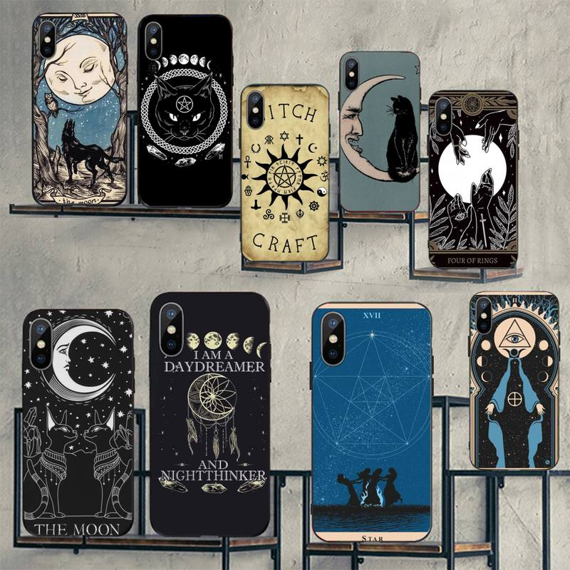 Witches moon Tarot Mystery totem Phone Case for iPhone 11 12 pro XS MAX 8 7 6 6S Plus X 5S SE 2020 mini