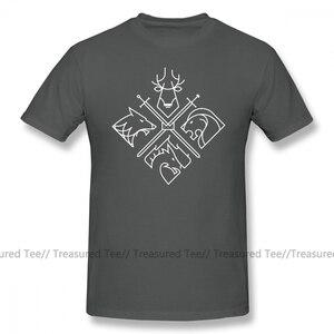 Футболка «Игра престолов» футболка «Игра престолов дома» Милая модная футболка больших размеров с короткими рукавами, 100% хлопковая футболка