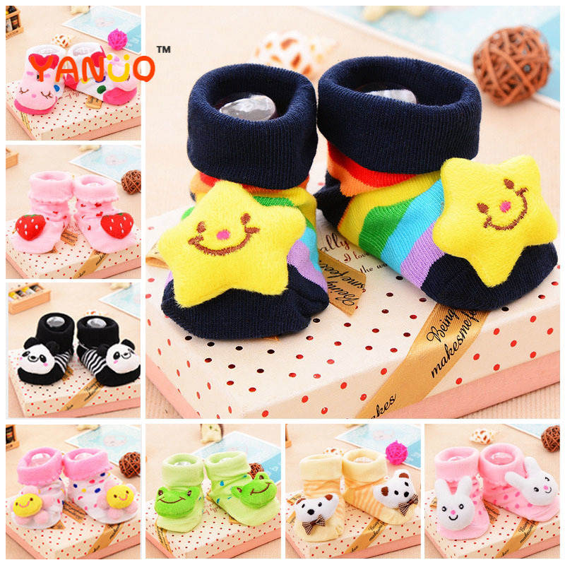 Baby Socks Boots Bells Non-Slip Boys Cotton Cartoon Cute Floor with Soft