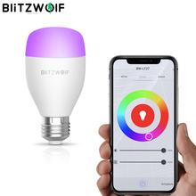 BlitzWolf Wifi akıllı uzaktan AC100 240V RGBWW + CW 9W E27 APP akıllı led ampül ile çalışmak Alexa Google asistan + IR uzaktan kumanda