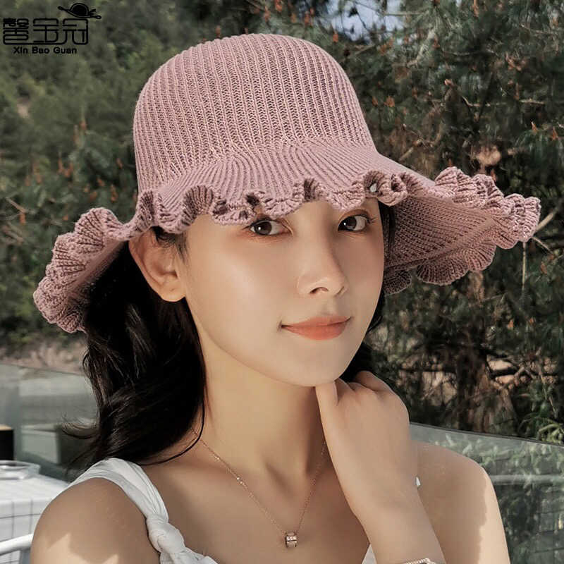Women Summer Visors Hat Foldable Sun Hat Wide Large Brim Beach Hats Beach UV Protection Cap
