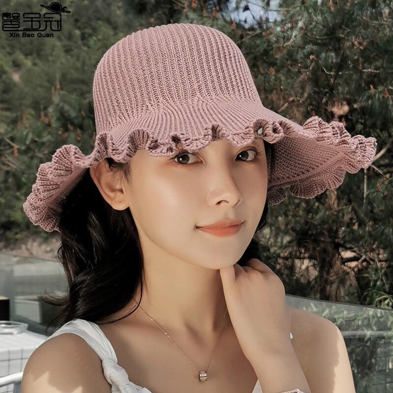 Women Summer Visors Hat Foldable Sun Hat Wide Large Brim Beach Hats Beach UV Protection Cap