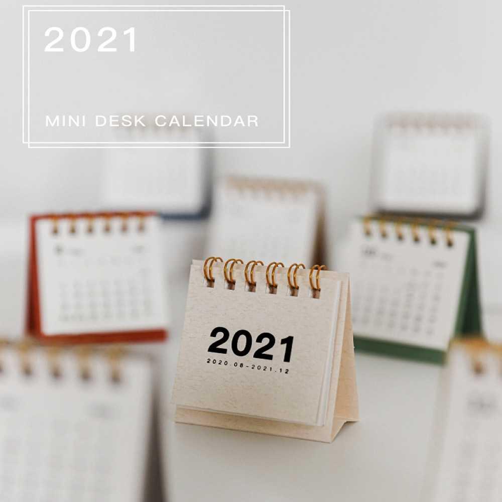 mini calendario da tavolo a vibrazione mensile da settembre 2021 a dicembre 2021 Calendario da tavolo piccolo semplice decorazione a unita per libro mini calendario Calendario da tavolo 2021