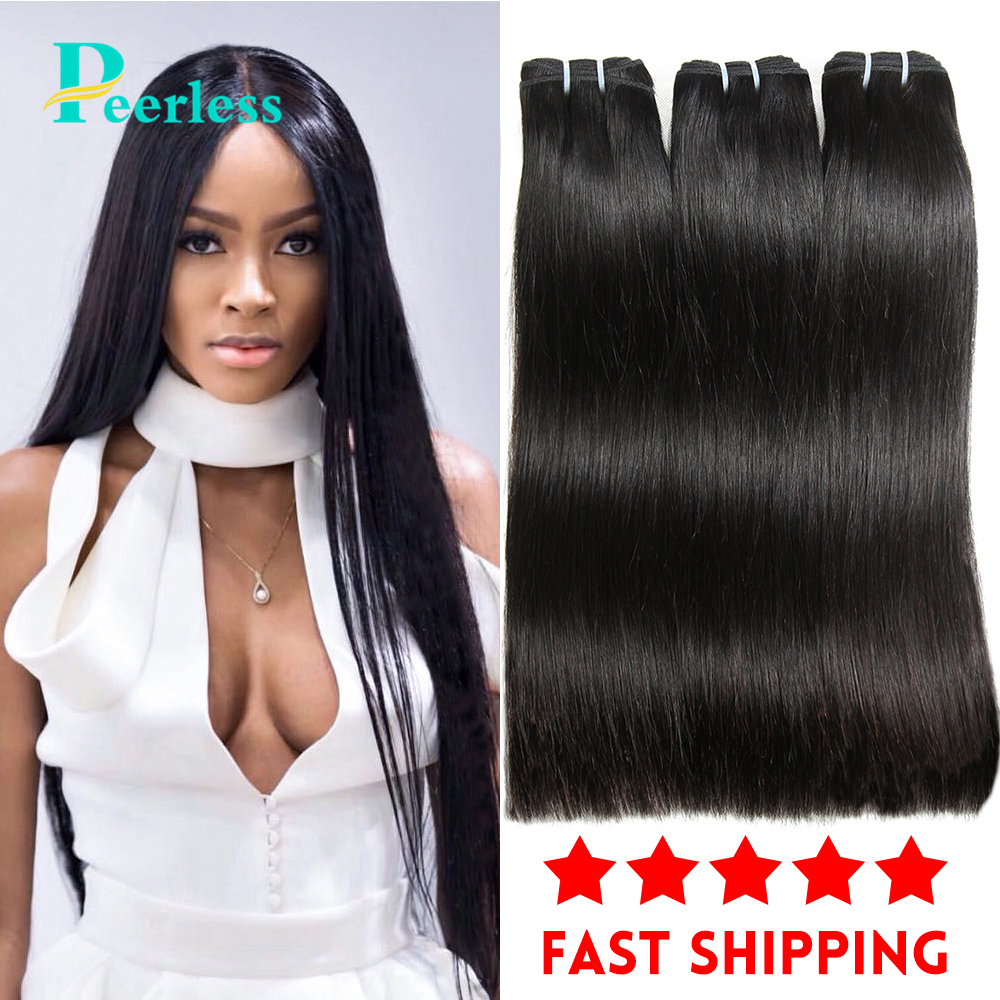 PEERLESS – Extensions de cheveux péruviens vierges, lot de 3 pièces de 10 à 28 pouces, 100% cheveux humains crus, couleur naturelle