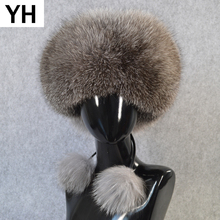 2019 Women Lovely Real Fox Fur Hats Natural Fox Fur Russian Ushanka Fox Fur Cap New Arrival Winter Quality Thick Warm Bomber Hat cheap doakxol Adult Solid Bomber Hats YH-8253 100 real natural fox fur Adjustable fit for everyone