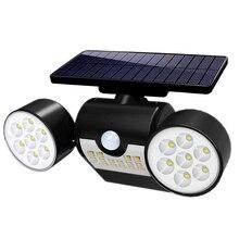30Led Motion Sensor Solar Light Foco Led Exterior Dual Head Spotlight Garden Wall IP65 Emergency