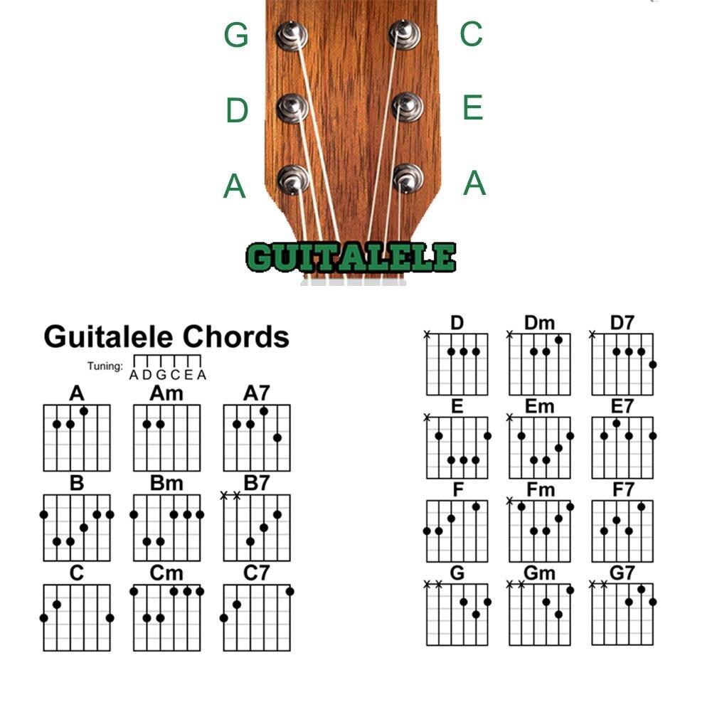 Unisexe 30 pouces palissandre nylon ficelle ukulélé guitare 6 cordes guitare instrument - 6