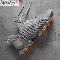 Zapatos deportivos para hombre, zapatillas gruesas ultraligeras con amortiguación de Palma, para correr, primavera y verano, 2021