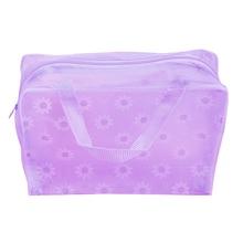 Storage-Bag Zipper Pouch Pocket Toiletry Transparent Waterproof Fashion Floral-Print