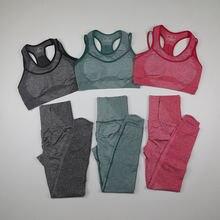 Женский бесшовный комплект для йоги vital rise тренировочный
